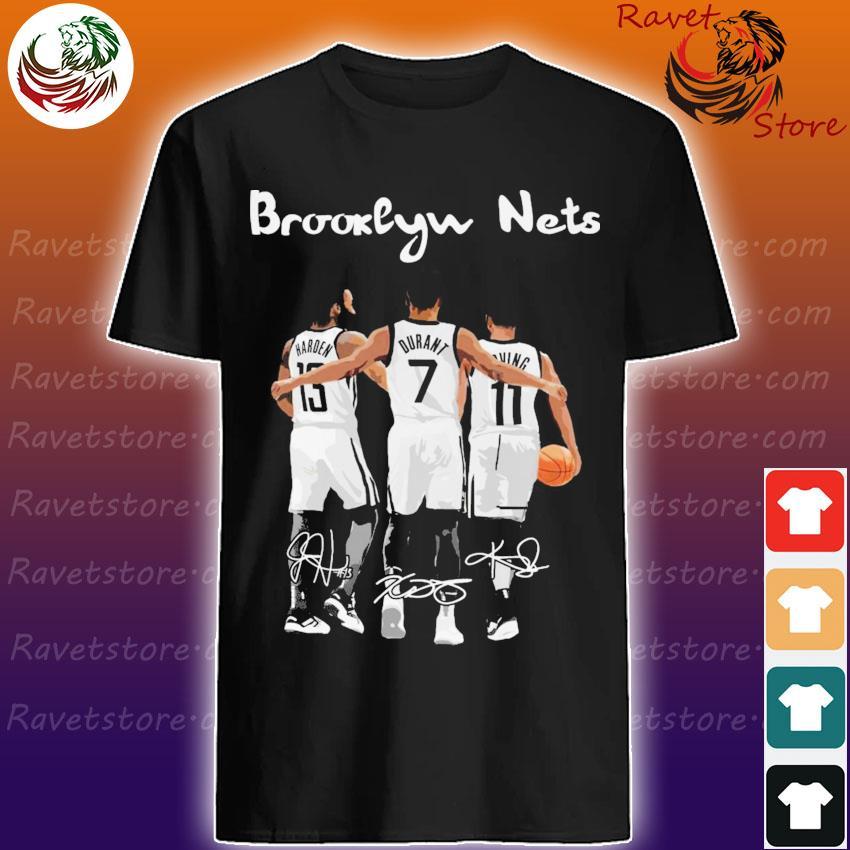 Brooklyn Nets James Harden Kevin Durant vs Kyrie Irving Mvp signatures shirt