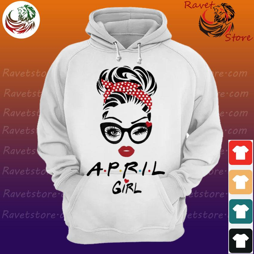April Girl face Wink Eye Hoodie