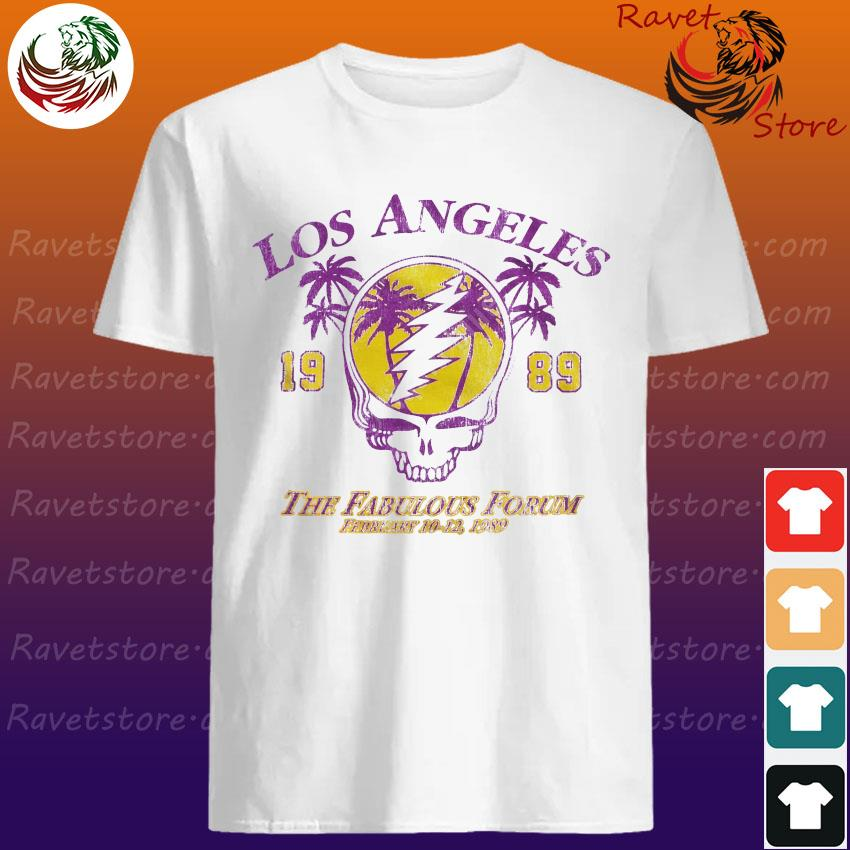 Official Grateful Dead Los Angeles 1989 The Fabulous Forum February 10-12 1989 shirt