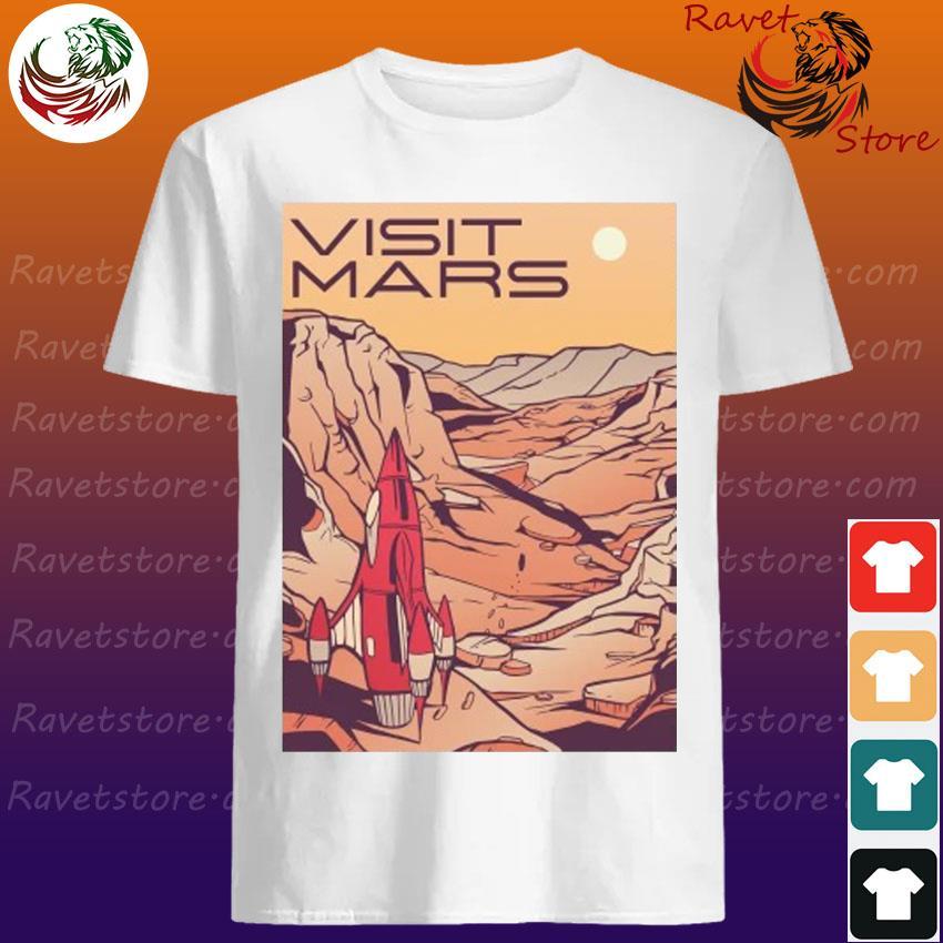 Visit Mars Mars Landscape Retro Travel shirt