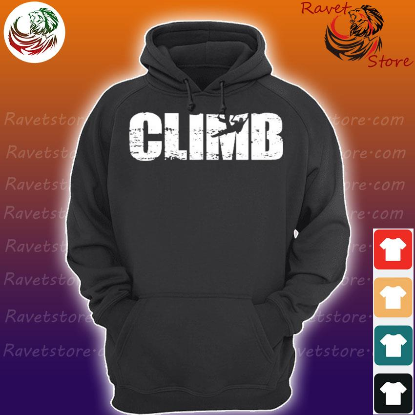 Distressed look climbing gift for climbers Hoodie
