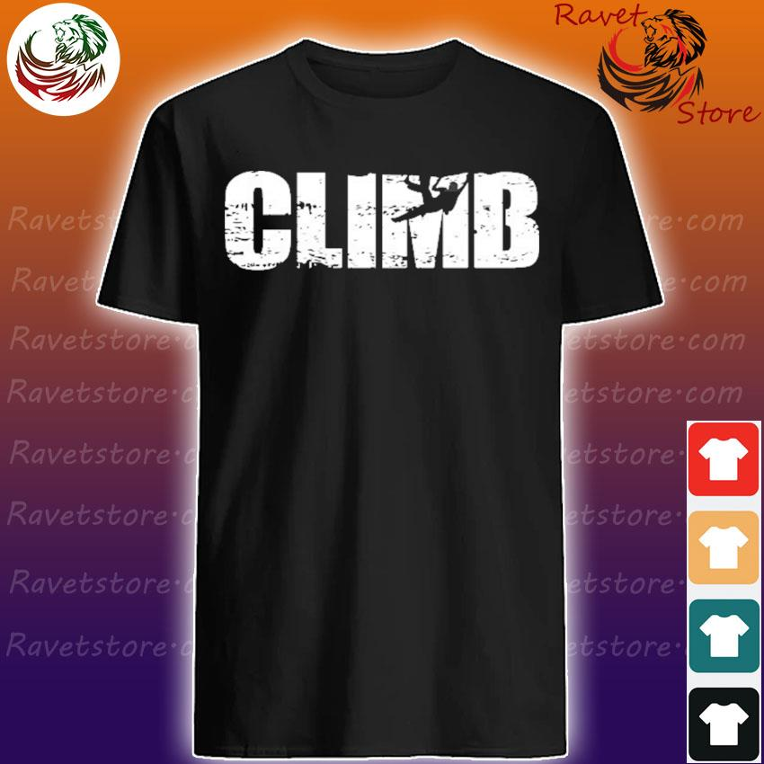 Distressed look climbing gift for climbers shirt