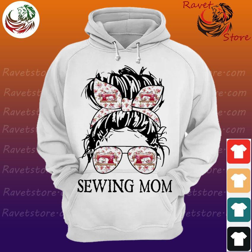 Messy Bun Sewing Mom Hoodie