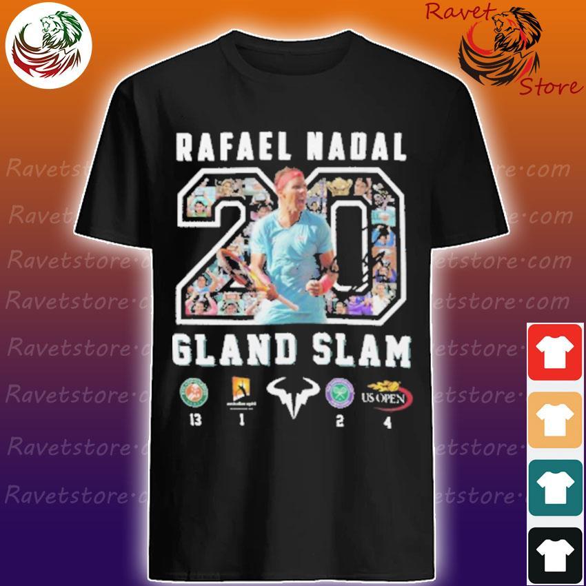 Official Rafael Nadal Grand Slam 20 shirt