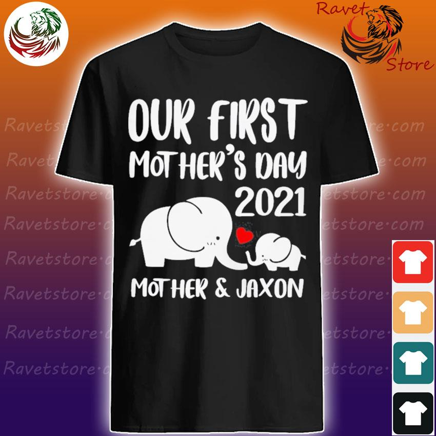 Personalized First Mothers Day Shirts Elephant Matching Mom And Baby Shirt