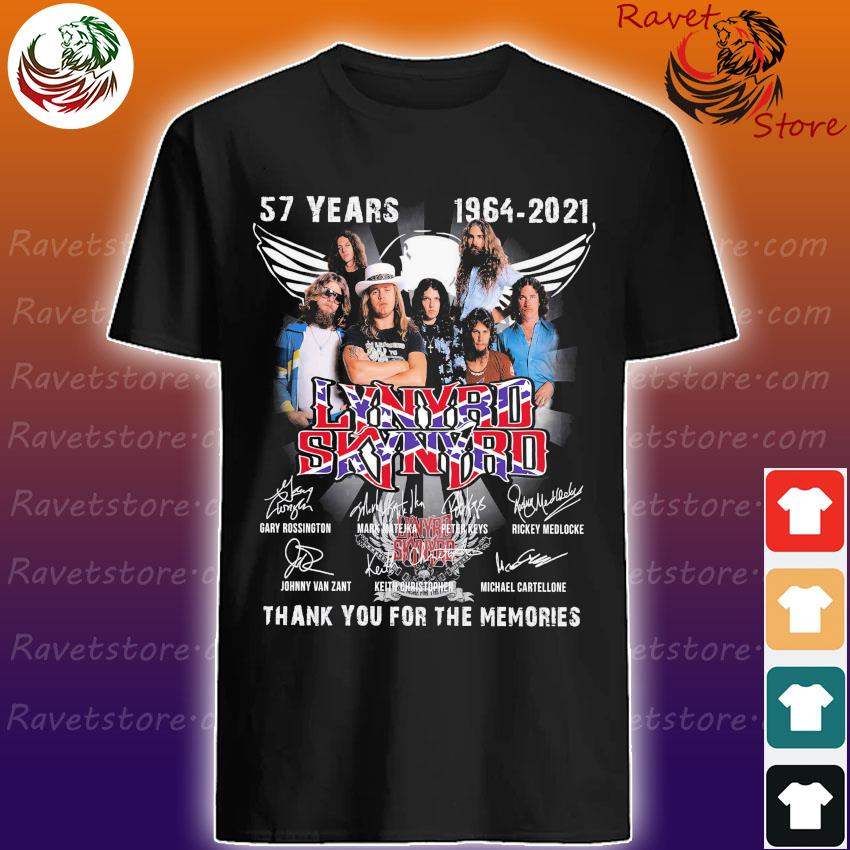 57 years 1964 2021 Lynyrd Skynyrd thank you for the memories signatures shirt