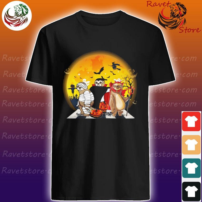 Sloth Pumpkin Abbey Road Halloween T-Shirt Masswerks Store