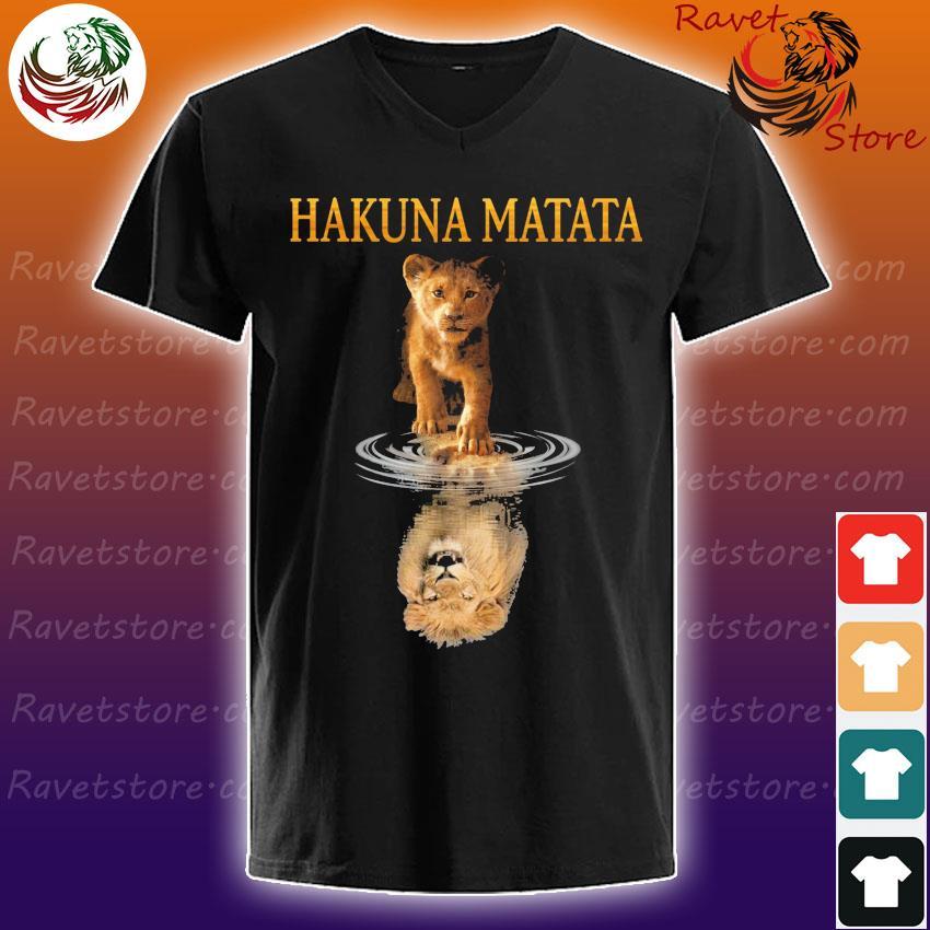 Hakuna Matata The Lion King Reflection In The Water Shirt V-Neck