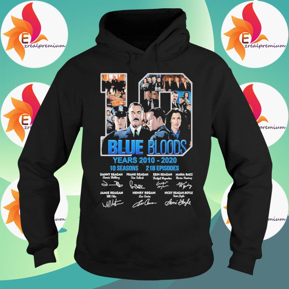 10 Blue Bloods years 2010-2020 10seasons 218 Episodes signatures s Hoodie