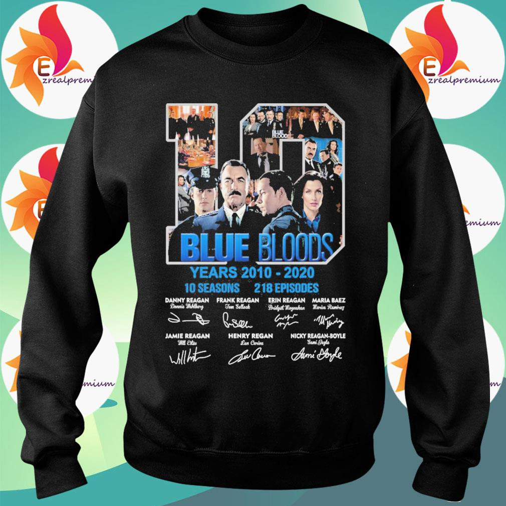10 Blue Bloods years 2010-2020 10seasons 218 Episodes signatures s Sweatshirt