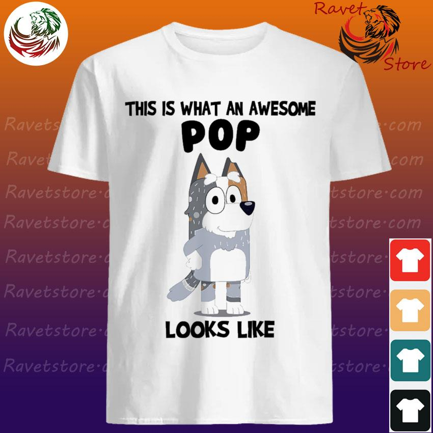 Bluey Bandit This is what an awesome Pop looks Like shirt
