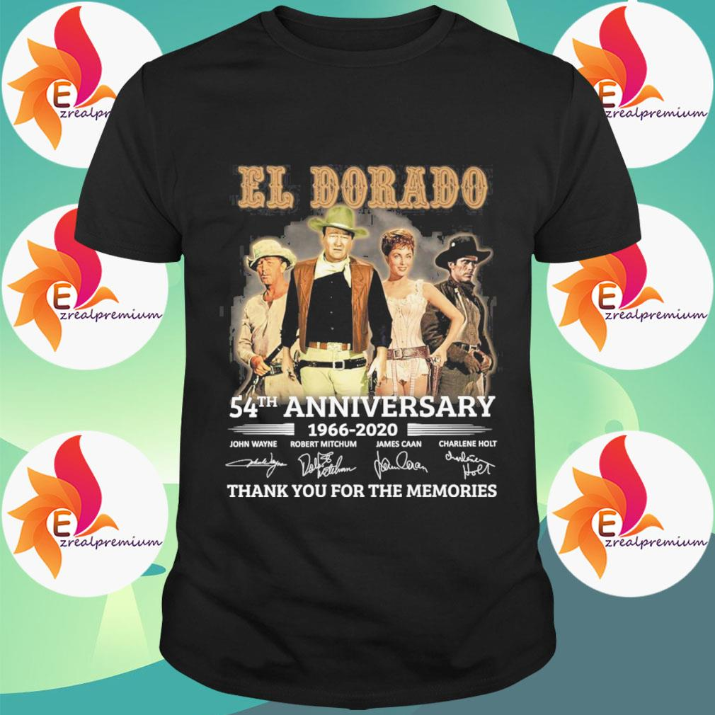 El Dorado 54th anniversary 1966 2020 thank you for the memories signatures shirt