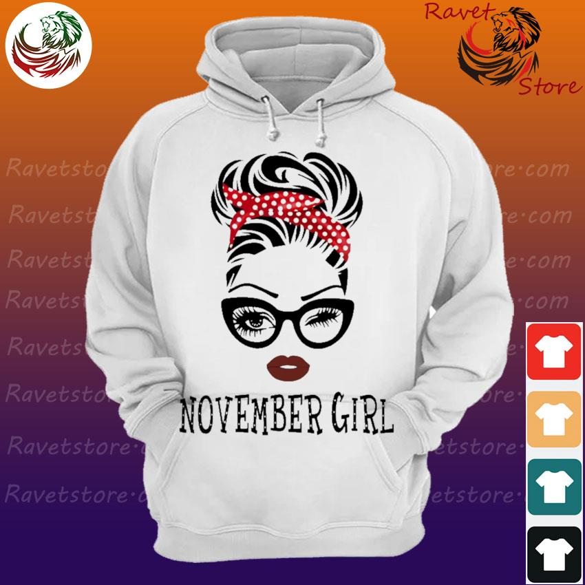 Black Woman with glasses November Girl s Hoodie