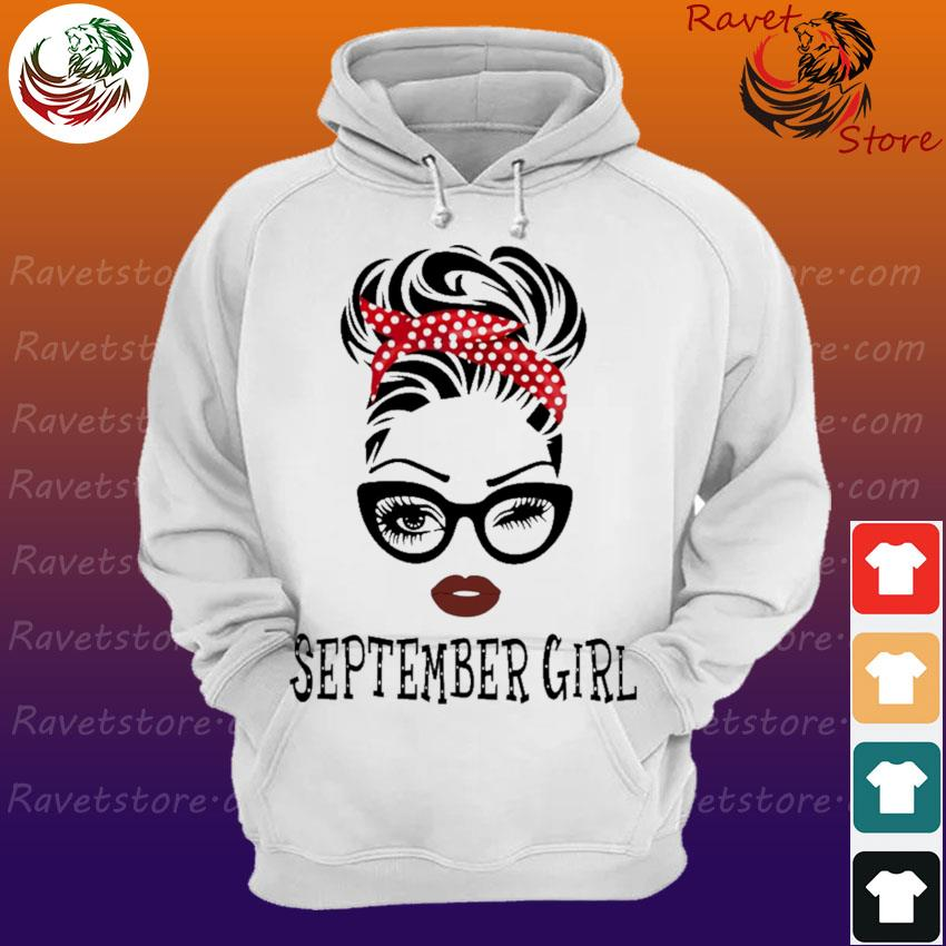 Black Woman with glasses September Girl s Hoodie