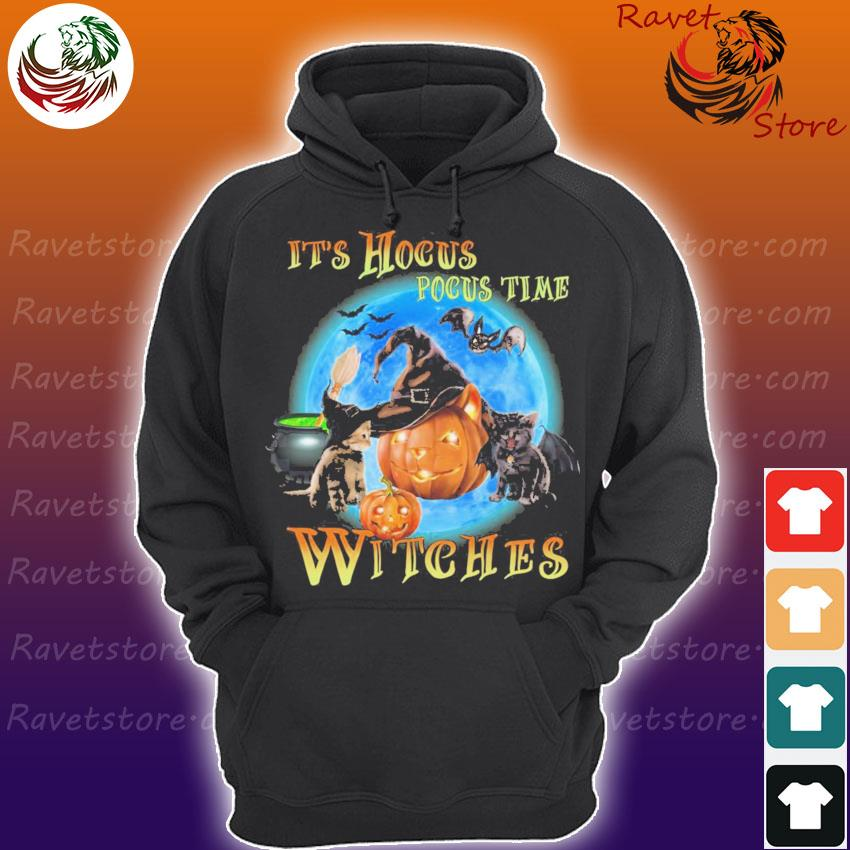 Cats and Pumpkins It's Hocus Pocus time Witches s Hoodie