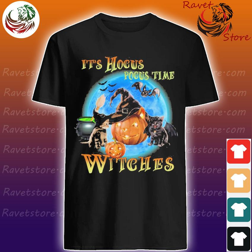 Cats and Pumpkins It's Hocus Pocus time Witches shirt