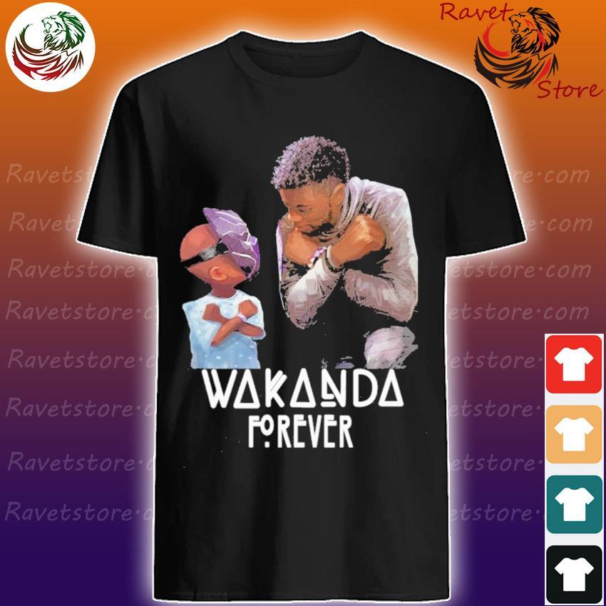Chadwick Boseman and Baby Wakanda forever shirt
