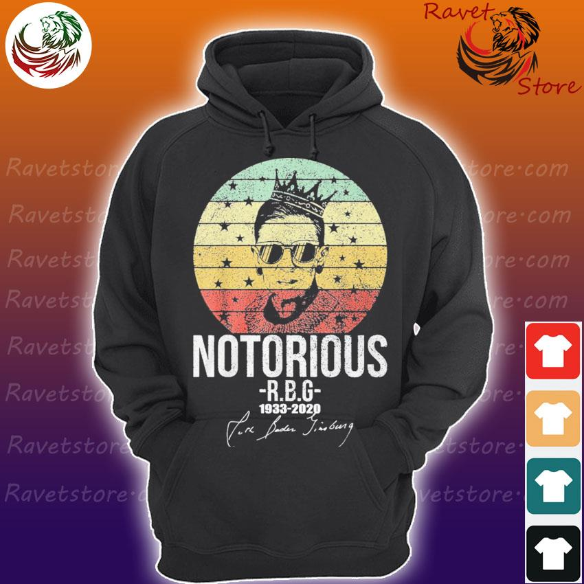 Ruth Bader Ginsburg notorious 1933 2020 signature vintage s Hoodie
