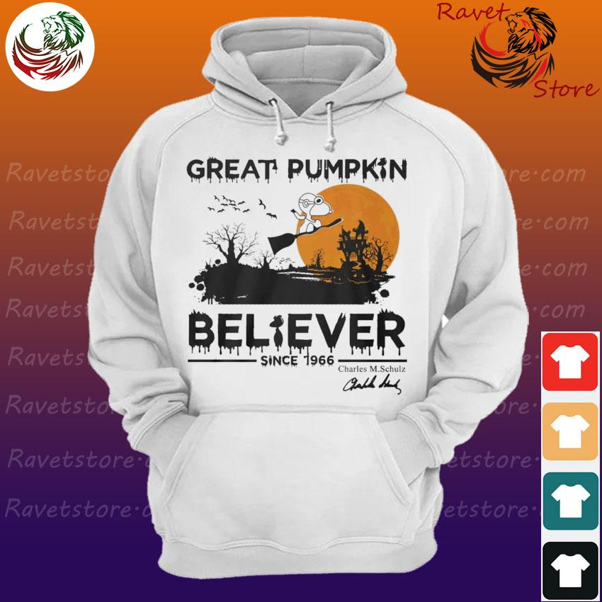 Snoopy Great Pumpkin Believer since 1966 Charles M.Schulz signature Halloween s Hoodie