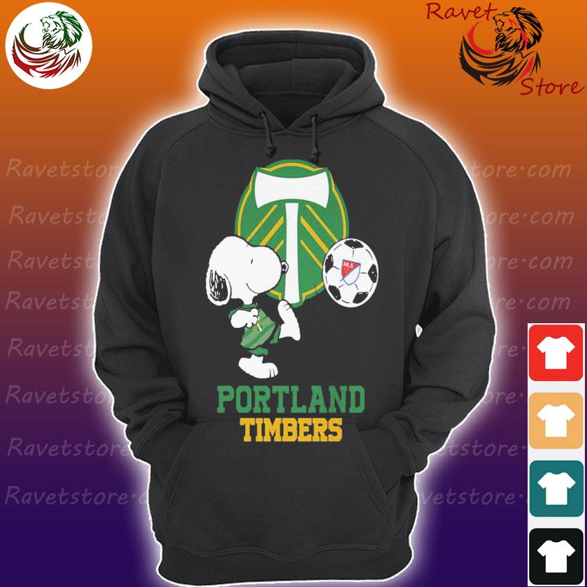 Snoopy playing Soccer Portland Timbers s Hoodie