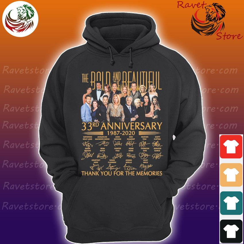 The Bold and the Beautiful 33rd anniversary 1987 2020 thank you for the memories signatures s Hoodie