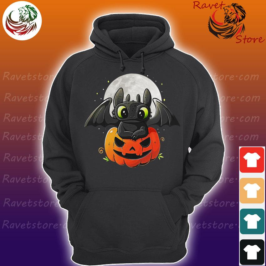 Baby Toothless pumpkin Halloween s Hoodie