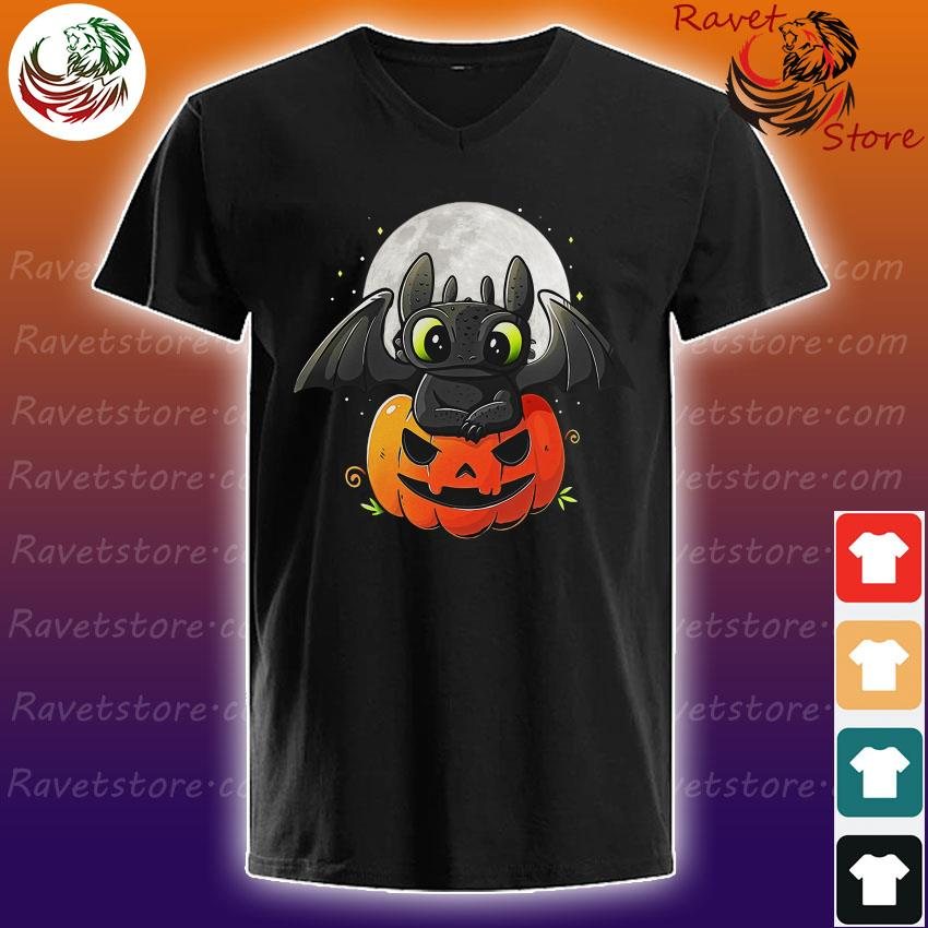 Baby Toothless pumpkin Halloween s V-Neck