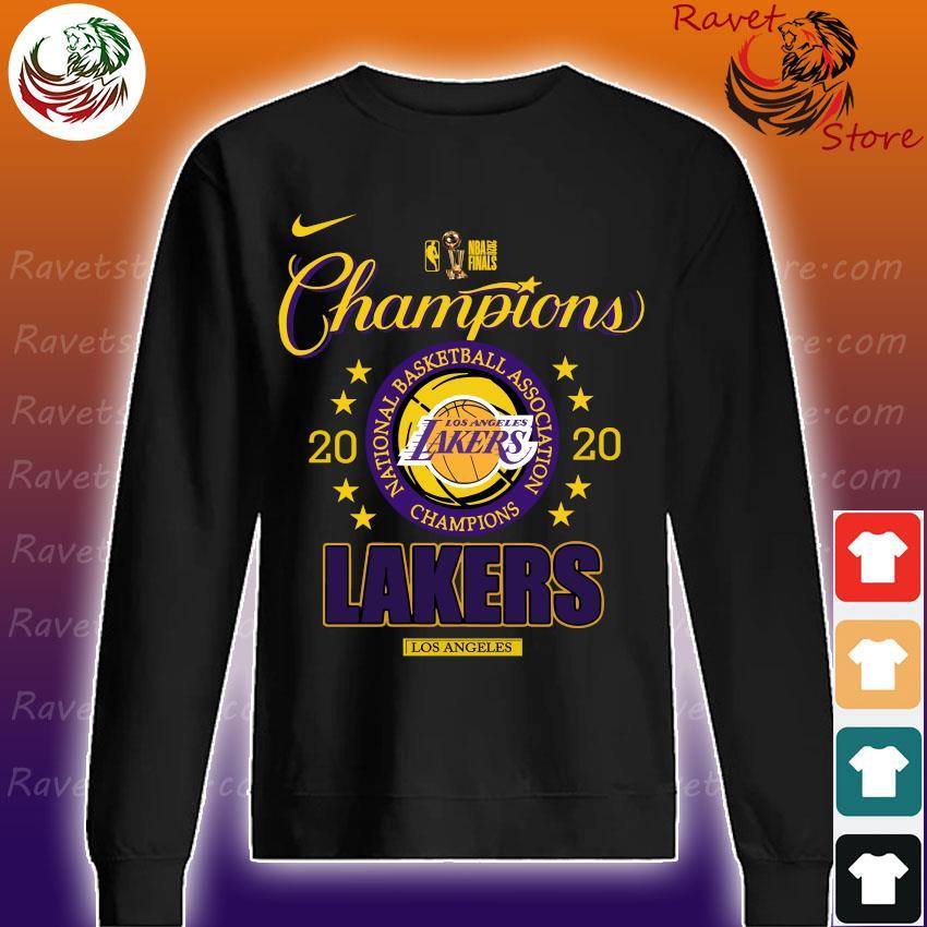 Los Angeles Lakers 2020 NBA Champions Locker Room Long Sleeve s Sweatshirt