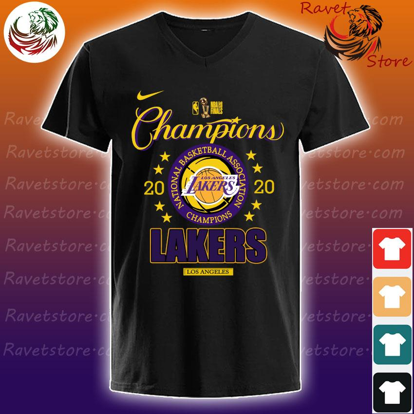 Los Angeles Lakers 2020 NBA Champions Locker Room Long Sleeve s V-Neck