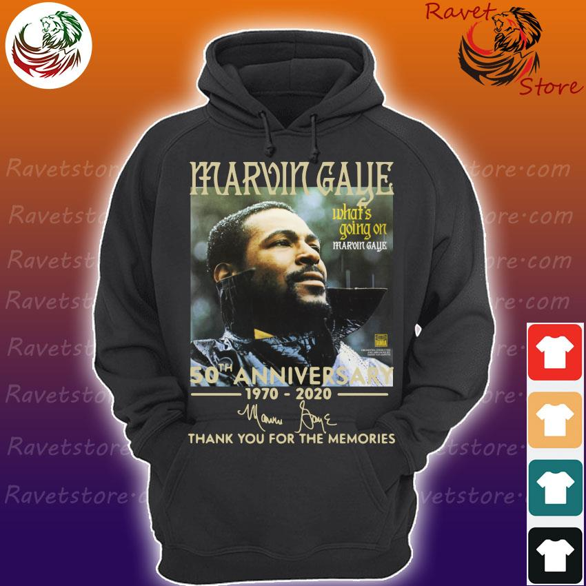 Marvin Gaye 50th anniversary 1970 2020 thank you for the memories signature s Hoodie