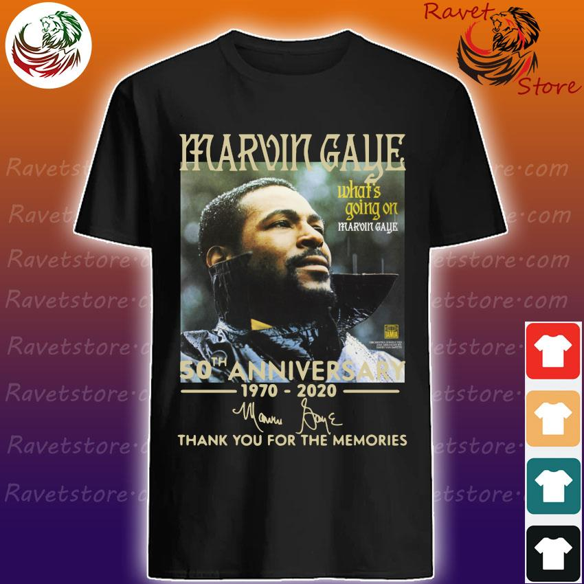 Marvin Gaye 50th anniversary 1970 2020 thank you for the memories signature shirt