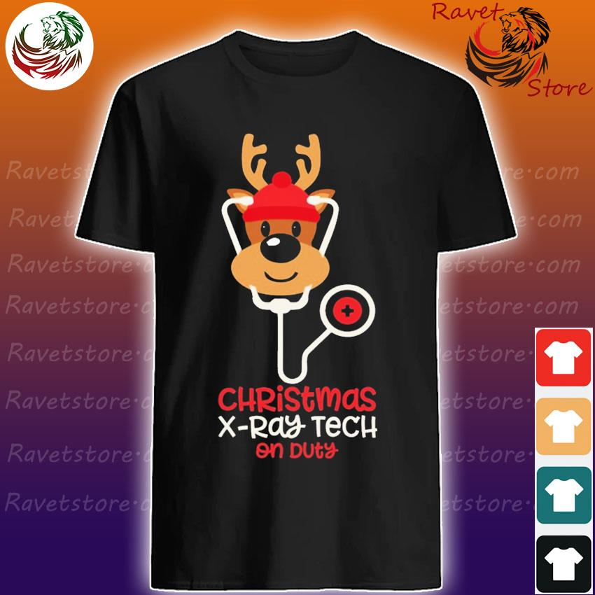Reindeer Nurse Christmas X-Ray Tech on duty shirt