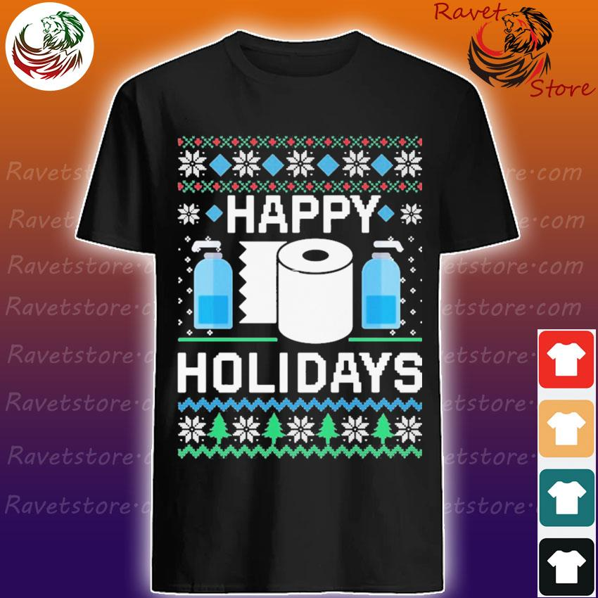 Toilet Paper Happy Holidays Christmas shirt