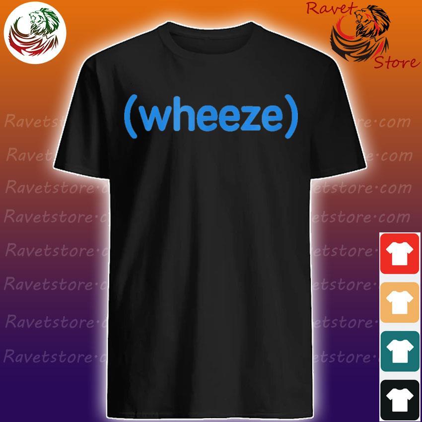 Wheeze blue shirt