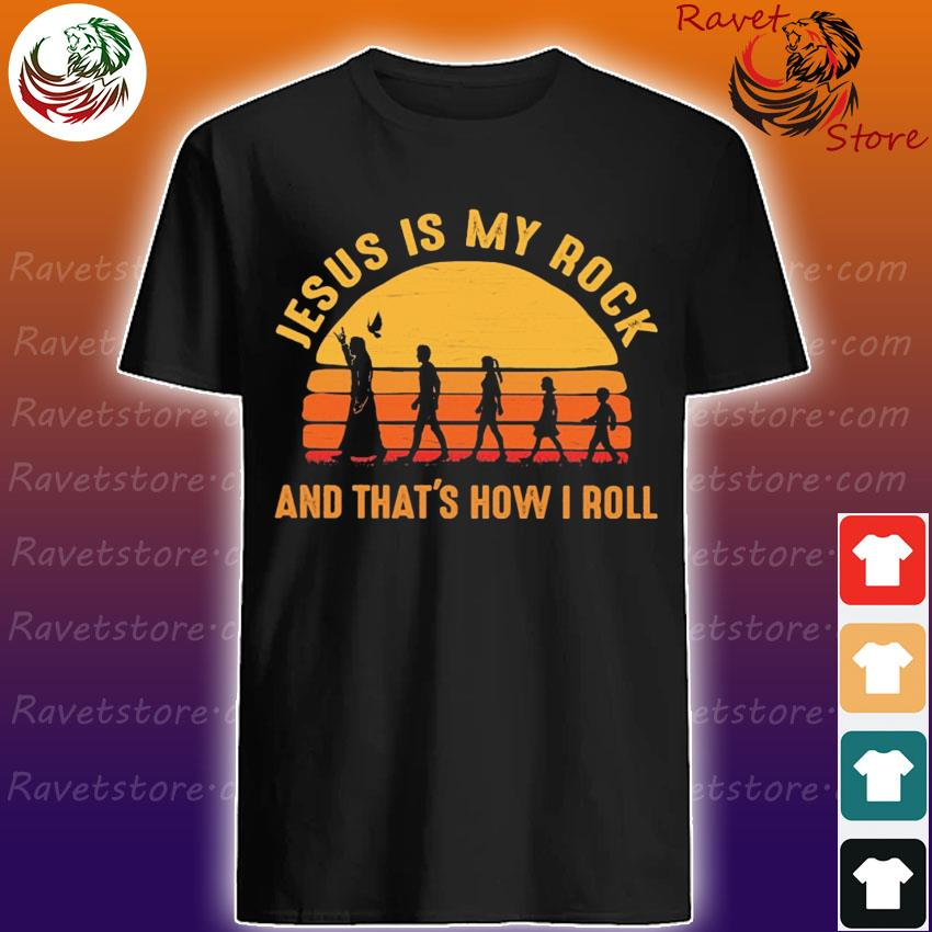 Jesus is My Rock and that's how I roll Retro shirt