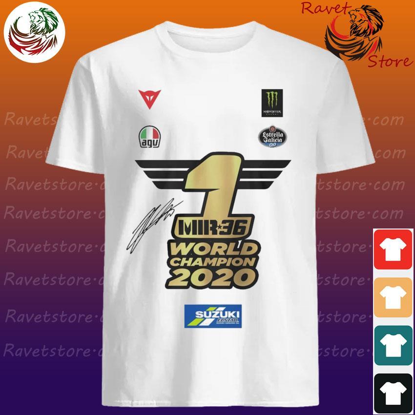 Joan Mir Mir 36 World Champion 2020 signature shirt
