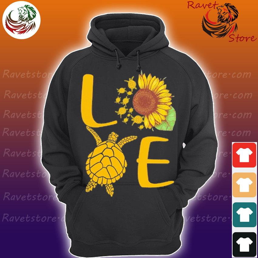Love Turtles Sunflower s Hoodie