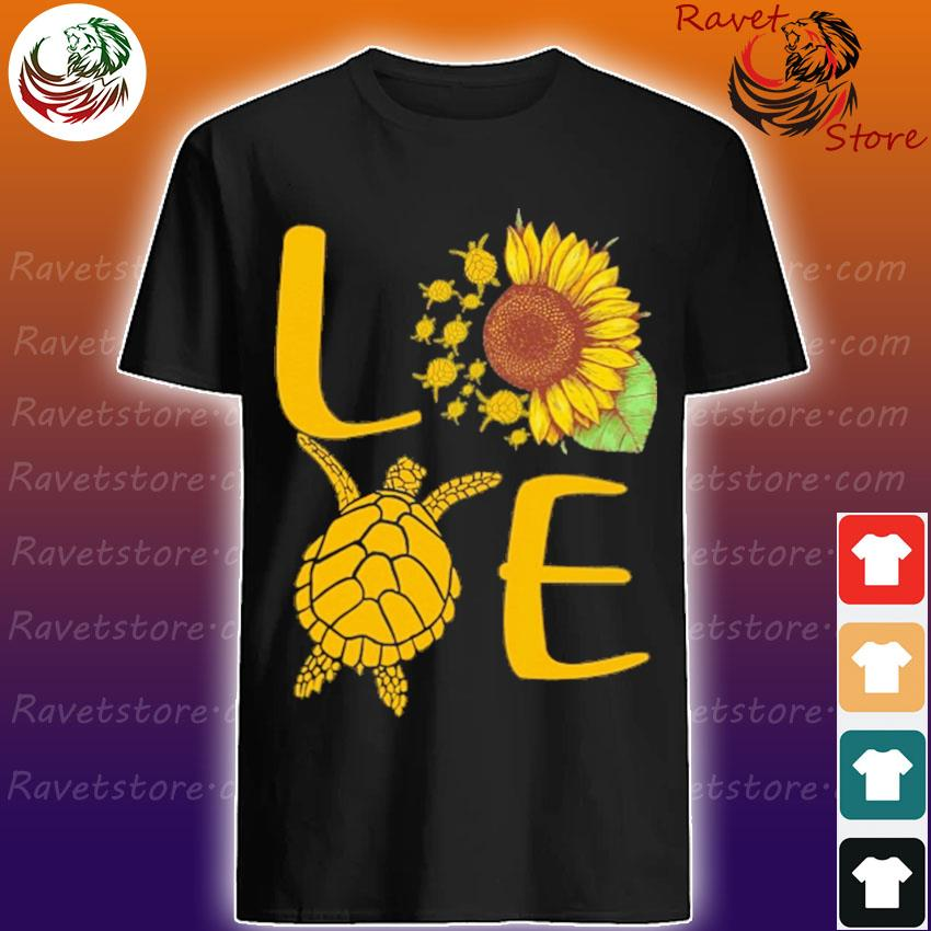 Love Turtles Sunflower shirt