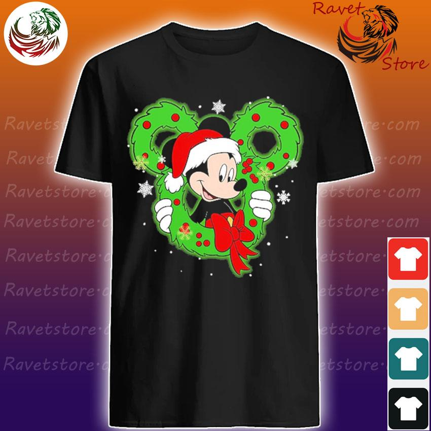 Mickey mouse Santa Merry Christmas shirt