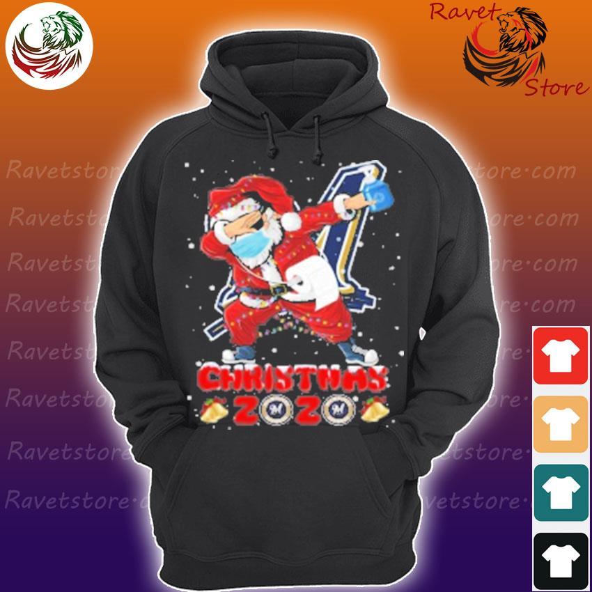 Milwaukee Brewers Santa Claus Dabbing Christmas 2020 MLB s Hoodie