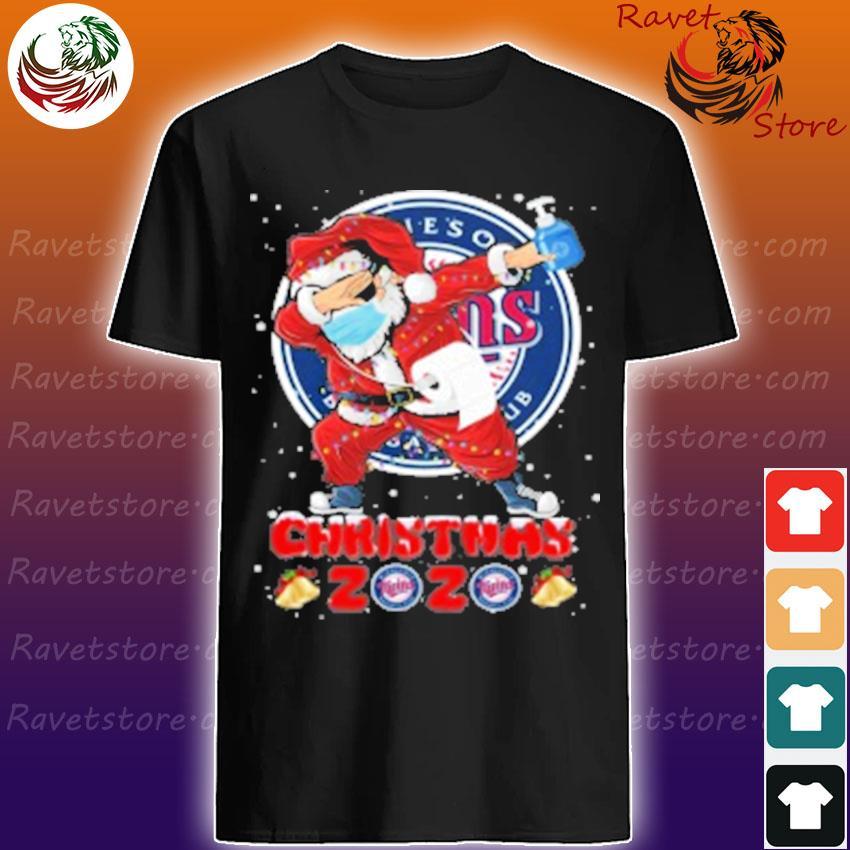 Minnesota Twins Santa Claus Dabbing Christmas 2020 MLB shirt