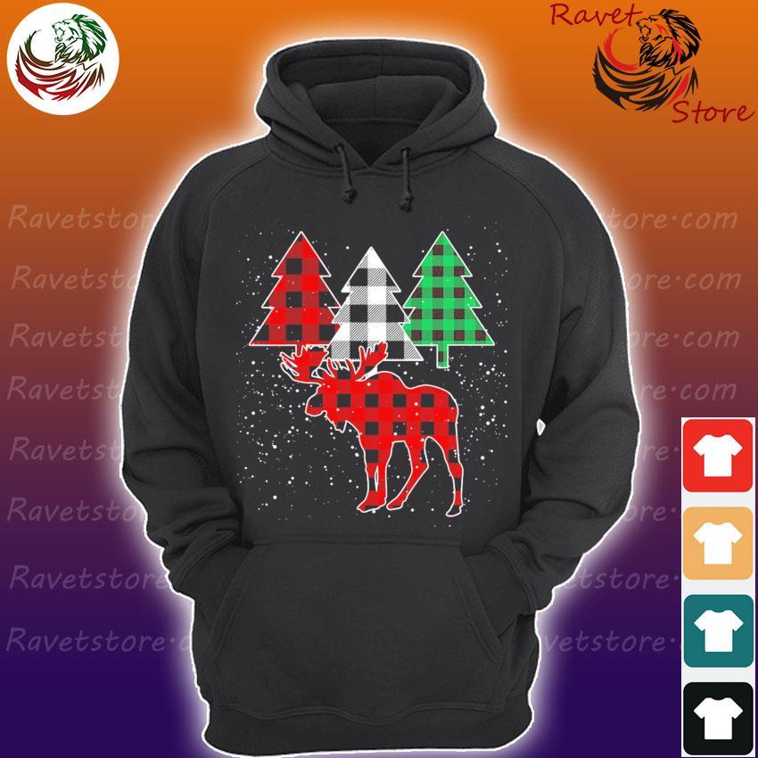 Moose Buffalo plaid Christmas s Hoodie