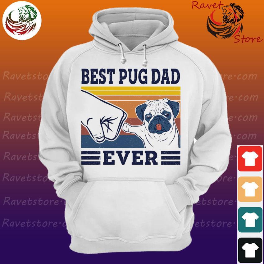 Official Best Pug dad ever vintage s Hoodie