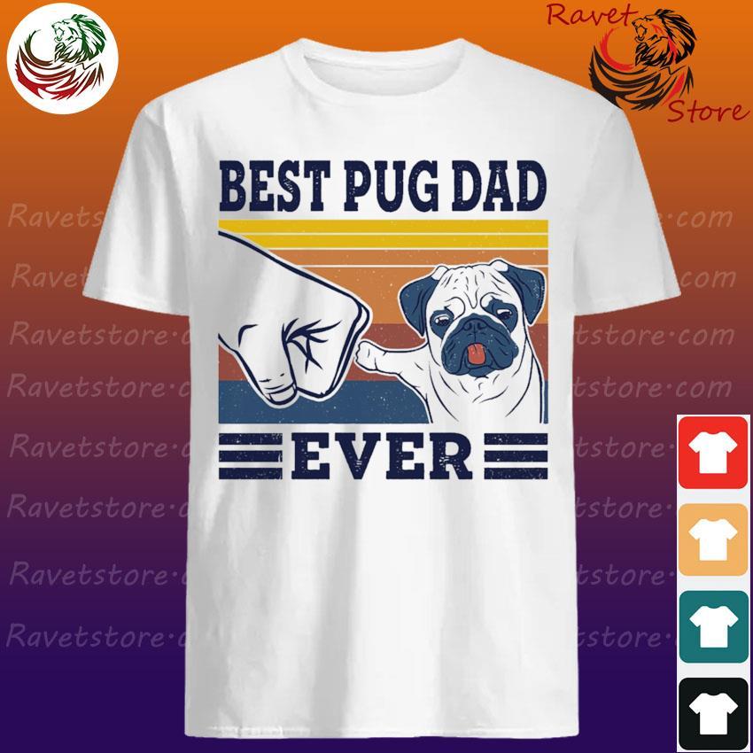 Official Best Pug dad ever vintage shirt