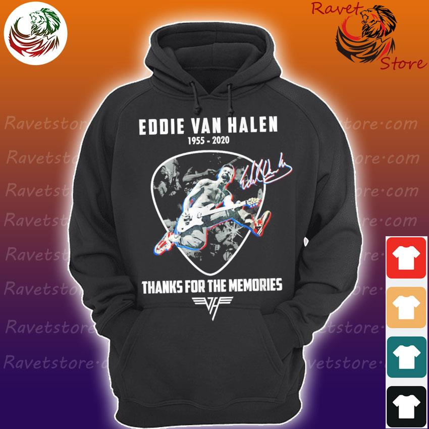 Official Legend Eddie Van Halen 1955 2020 thank you for the memories signature s Hoodie