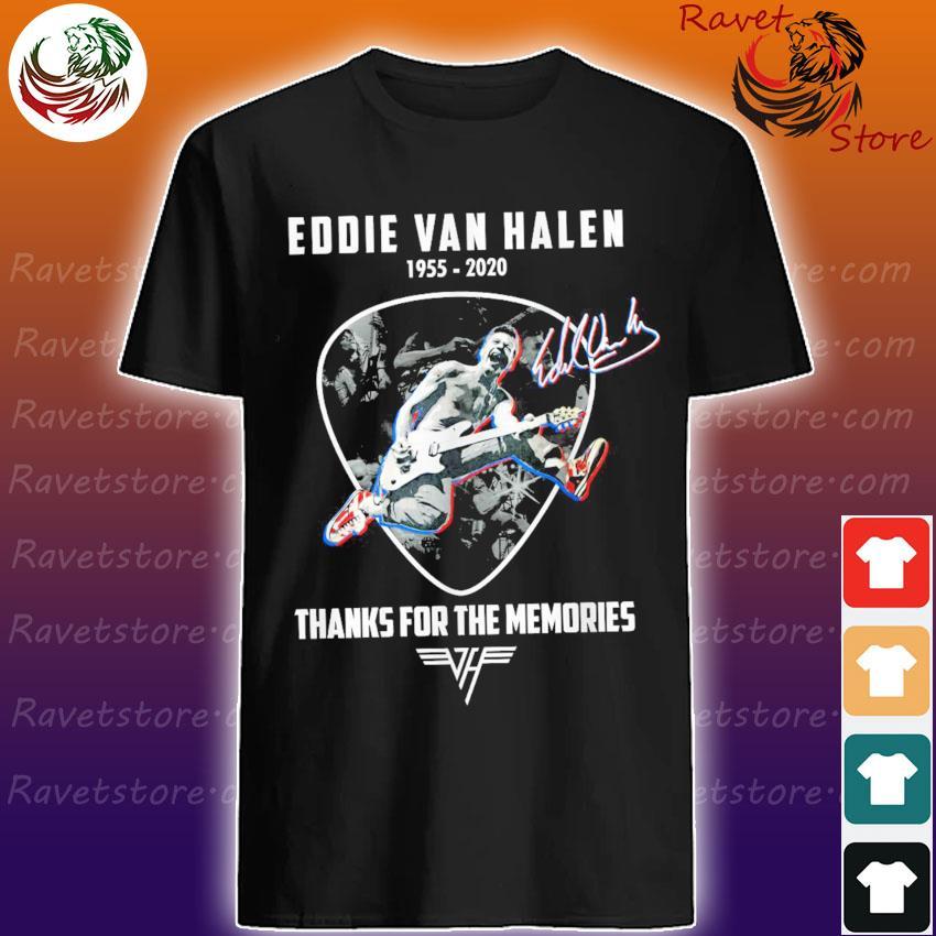Official Legend Eddie Van Halen 1955 2020 thank you for the memories signature shirt