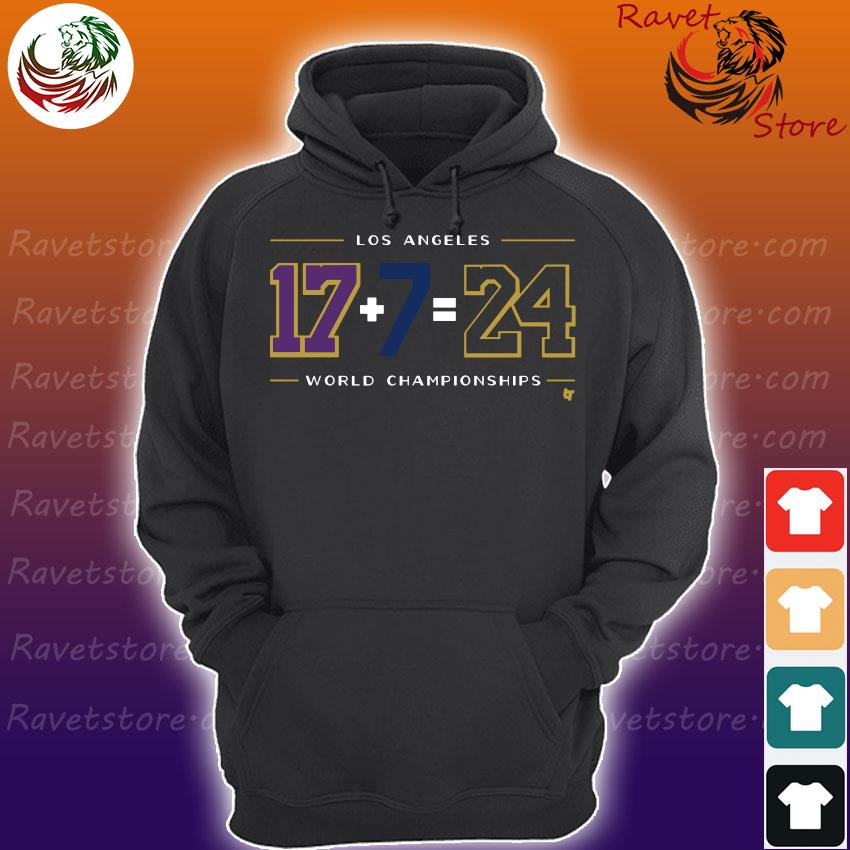 Official Los Angeles 17 7 24 Baseball World Champions s Hoodie