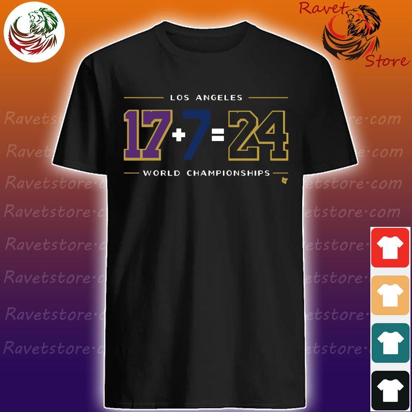 Official Los Angeles 17 7 24 Baseball World Champions shirt