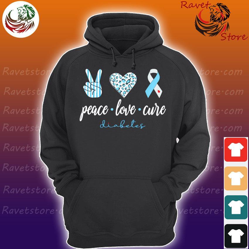 Official Peace Love Cure Diabetes s Hoodie