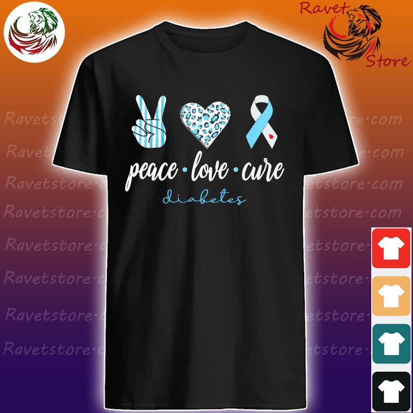 Official Peace Love Cure Diabetes shirt